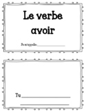 Le verbe avoir- mini book