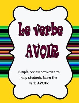 Le verbe avoir- the avoir book