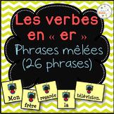 """Les verbes en """"-er"""" (premier groupe) - phrases mêlées"""