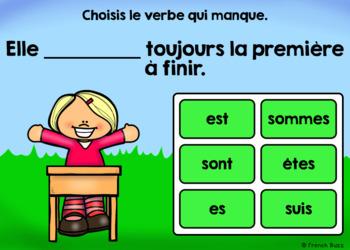 Le verbe être au présent - Avec pronoms - BOOM Cards