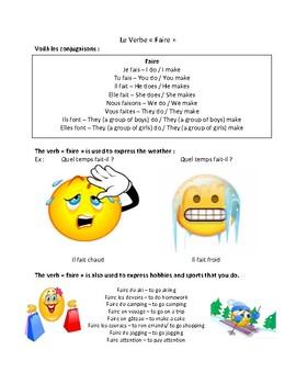 Le verbe faire