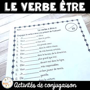 """Le verbe """"être"""" - activités"""