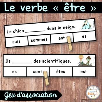 """Le verbe """"être"""" - jeu d'association - 35 phrases"""