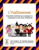 Ensemble de l'Halloween / French Halloween Word Wall and Games