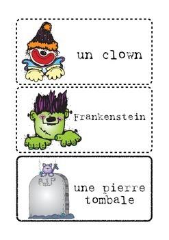 Le vocabulaire de l'Halloween - Halloween Word Wall