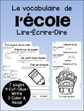 Le vocabulaire de l'école {French school supply & classroom objects vocabulary}