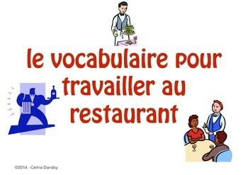 Le vocabulaire pour travailler au restaurant