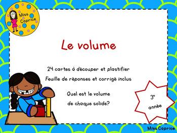 Le volume - 3e année