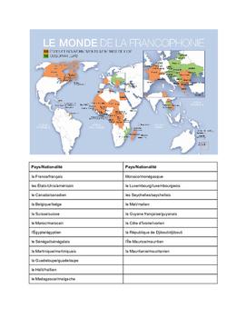 Le voyage au pays francophone