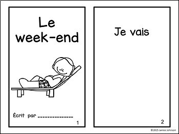 Le week-end ~French Weekend Activities Reader & Build-A-Book {en français}