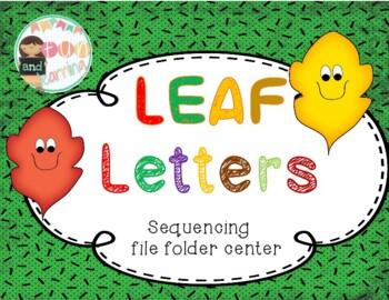 Leaf Letters file folder game