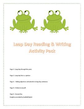 Leap Day Reading & Writing Activity Pack