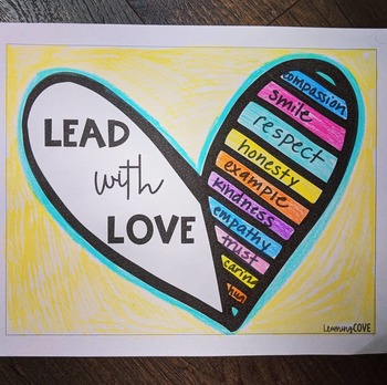 Lead with Love - perfect for MLK JR