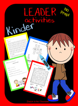 Leader Activities for Kinder-by Leader in the Classroom