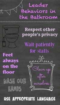 Leader Behaviors in the Bathroom Poster
