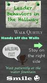 Leader Behaviors in the Hallway Poster