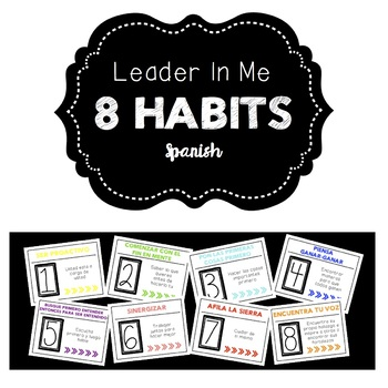 Leader In Me Posters- Spanish