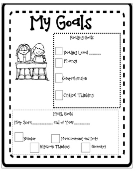 Student Goals Led Conference Tabs