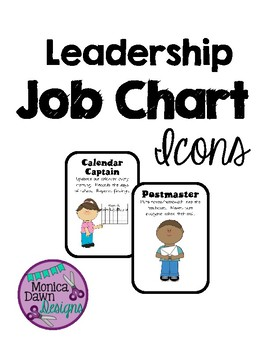 Leader Job Chart - Classroom Economy Jobs In cluded, me