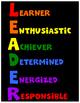 Leader Posters - Character Education - Leadership