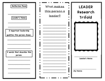 Leader Research Trifold