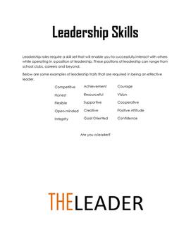 Leadership Writing Prompt