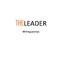 Leadership Writing Prompt