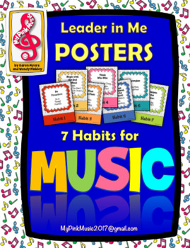 Leadership Habits for MUSIC!  (FREEBIE included in the preview)