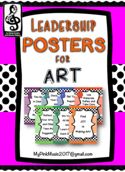 Leadership Habits for ART!  (FREEBIE/preview) stripes & dots