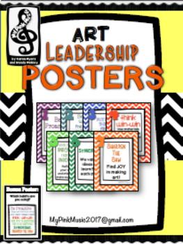 Leadership Habits for ART!  (FREEBIE in preview) chevron design