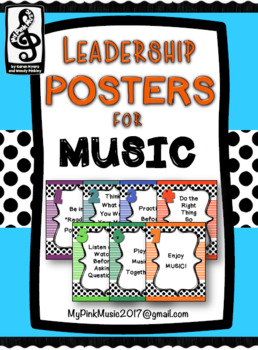 Leadership Habits for MUSIC!  (Stripes and more stripes design)
