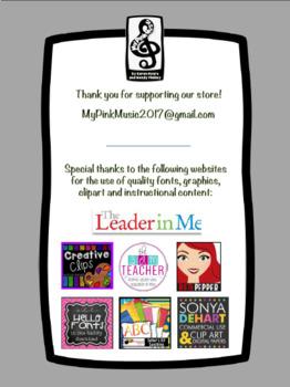 Leadership Habits for MUSIC!  (spiral design)