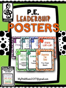 Leadership Habits for PE!  (Polka-dot design)