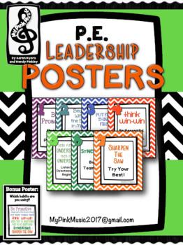 Leadership Habits for PE!  (chevron design)