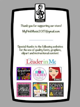 Leadership Habits for PE! (spiral design)