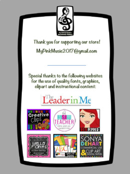 Leadership Habits for PE! (stripes & dots design)