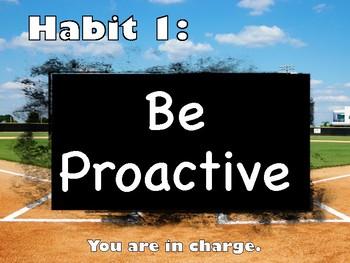 Leader in Me (Baseball) Poster Set Habits 1-7