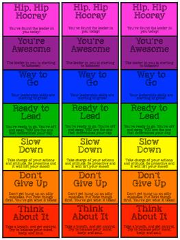 Good Leader Behavior Chart - Bookmark
