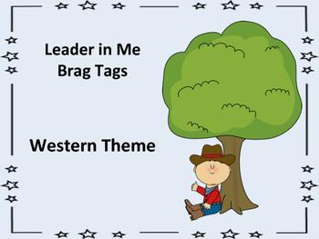 Leader in Me Brag Tags - Western Theme