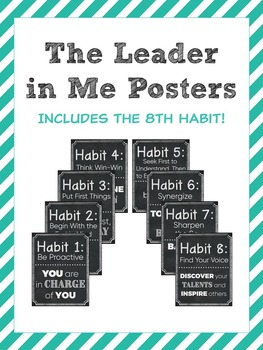 The Leader in Me Chalkboard Posters - Classroom Decor