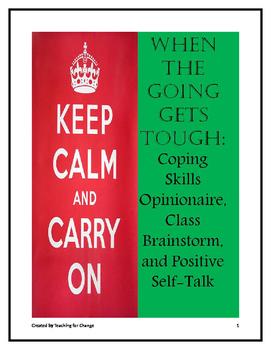 Leadership Skills: Coping Skills & Positive Self-Talk Opinionaire & Brainstorm