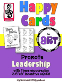 Leadership incentive cards for all ART or Design classes- HAPPY HANDS