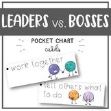 Leader vs. Boss - Pocket Chart Visual