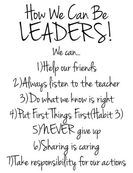 Leaders Anchor Chart