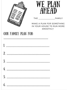 Leaders At Home Newsletter and Challenge: skill #2 I set goals and have a plan