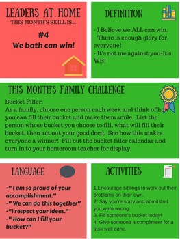 Leaders At Home Newsletter and Challenge: skill #4 We both can win!