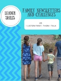 Leaders At Home Newsletter and Challenge: skill #5 I Listen First, Then I Talk