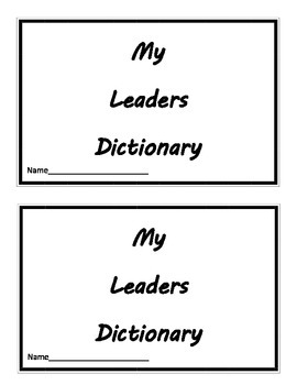 Leaders Dictionary