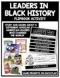Leaders in Black History Flipbook