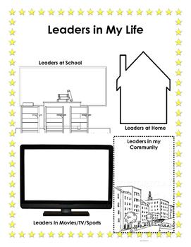 Leaders in My Life - Student Leadership Binder